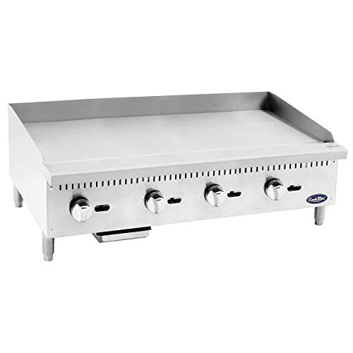 48in Grill - Commercial Natural Gas Griddle, Cook Rite Heavy Duty Stainless Steel Flat Top Countertop Restaurant Griddle Grill 48