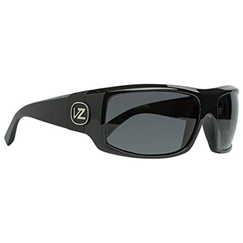 Von Zipper Clutch Wildlife Polarized Sunglasses-Black Gloss-Vintage Grey (Zipper Sunglasses Vintage Von)