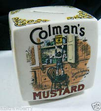 Victorian Advertisements Colman Mustard Quaker Oats Bovril Ceramic Coin Bank