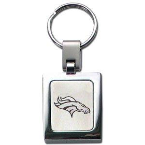 NFL Sq. Chrome Key Chain - Denver Broncos