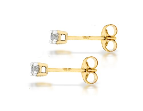 Carissima Gold - Boucles d'oreille - Femme - Or jaune (9 carats) 0.7 Gr - Diamant