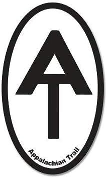 """Appalachian Trail Hiker Oval car bumper sticker decal 5/"""" x 3/"""""""