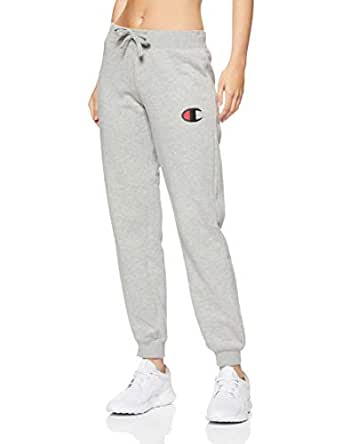 Champion Women's C Logo Cuff Pant, Oxford Heather, Medium