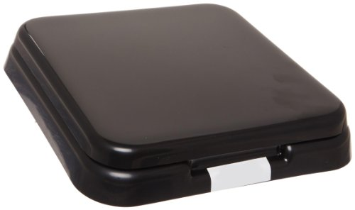 Simport Stain Tray M918-2 ABS Plastic Slide Staining System with Black Lid, Capacity of 10 Slides, 9-3/8
