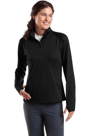 Sport-Tek Women's Sport Wick Stretch 1/2 Zip Pullover XXL Black - Stretch Pullover