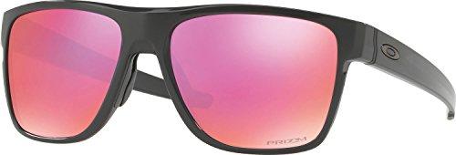 Oakley Men's OO9360 Crossrange XL Shield Sunglasses, Carbon/Prizm Trail, 58 mm (Verwendet Oakleys)