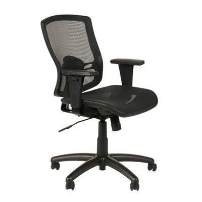 Alera ET4218 Etros Series Mesh Mid-Back Synchro Tilt Chair, Mesh Back/Seat, Black Back Synchro Tilt Chair