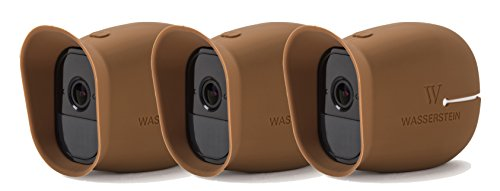 3 x Silicone Skins for Arlo Smart Security - 100% Wire-Free Cameras by Wasserstein ... (Arlo Pro, 3 x Brown)