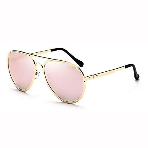3 Engánchate Gafas Street Hipster Cara Beat Color WX Redonda 5 Hembra Polarizada xin Gafas Sol Anti Metal Luz UV De EqwFH1