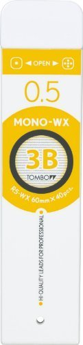 Tombow MONO-WX Mechanical Pencil Lead, 3B, 0.5 mm (R5-WX3B)