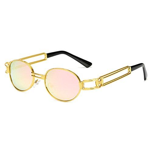 de ovale en Steampunk ronde hommes C4 femmes Juleya rétro Vintage soleil métal lunettes lunettes 6B1wE
