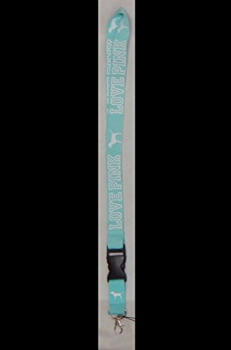 - Victoria's Secret Love Pink Lanyard with Dogs (Teal/White)
