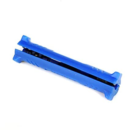 foopp Anillo Doble Cable Coaxial pelacables/(color: azul)