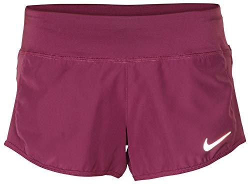 (Nike Women's Dri-Fit Crew Running Shorts-Plum-Large)