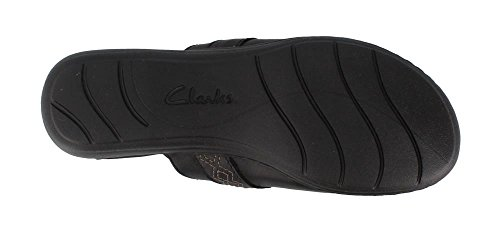 Clarks Womens Leisa Dream Clog Black Leather