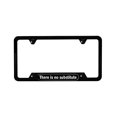 Porsche There is no Substitute License Plate Frame: Automotive