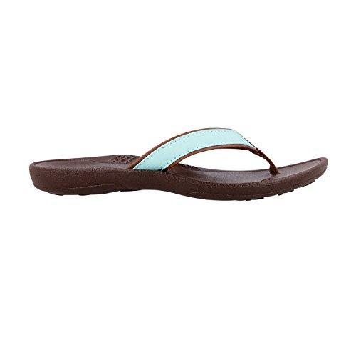 Okabashi Dames Indigo String Slippers Met Flip Flop Bruin / Aqua
