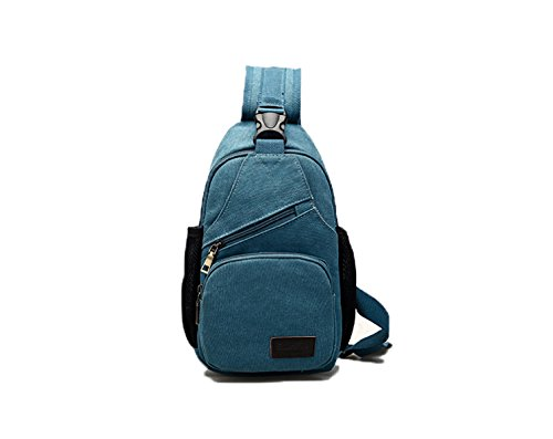 Men Blue Multifunctional Canvas Yueer Blue Shoulder Bag Trunk Of Men Casual Shoulder Waterproof Bag Sports qZPPREOwx