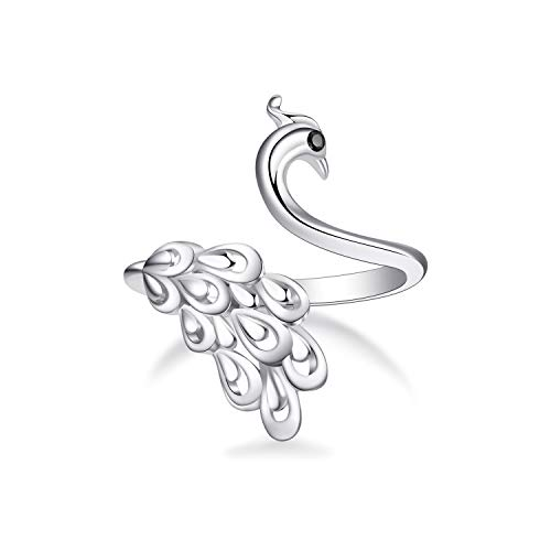 - WINNICACA Peacock Finger Rings for Women Ladies Gift Sterling Silver Ring for Women Girls Jewelry Gifts for Her