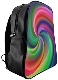 Candy Sweet Chakras Spiral Colorful Meditating Ladies Bags For College College Backpack Bag For School Print Zipper Students Unisex Adult Teens Gift