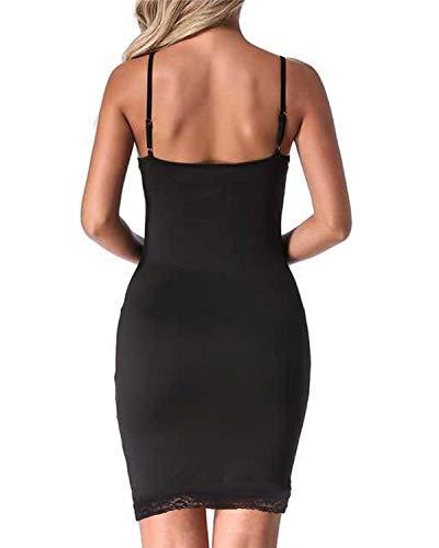 Soire D Nuit Set Auxo Sexy Bretelles Robe noir Babydolls Lingerie de Robe Slim Et 7701pqwc