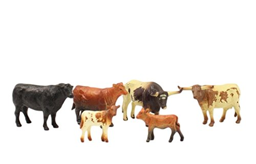 Cattle Cow Bull - M&F Western Toy Cattle Cow Calf Play Set Child Multi-Color 50650