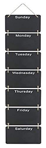 Vertical Hanging Chalkboard Weekly Calendar Multi-Purpose Blackboard Daily Planner (6.2