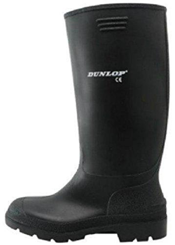 Nero Nero Nero da di uomo gomma colore Stivali Dunlop nero nero nero Nero con gambale alto gqBZHUx
