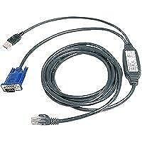 Avocent USB CAT 5 integrated access cable 2.1m 2.1m Negro cable para video, teclado y ratón (KVM) - Switch KVM (2.1 m, Negro, PCs, KVM switches, USB, VGA, RJ45)