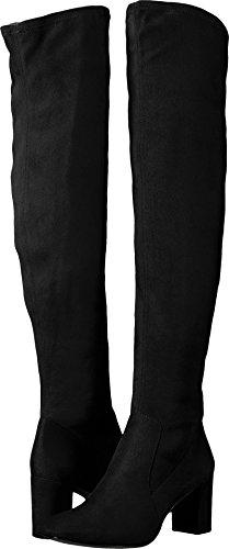 Nine West Women's Xperian, Black Stretch Suede Fabric, 10.5 Medium US