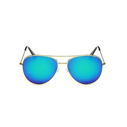 Color Mujer de Película Polarizada Retro Sol C de Victoria Color Sol Mirror Big Gafas Personalidad de Gafas Gafas Box de Gafas Sol F SwqzBR0PR