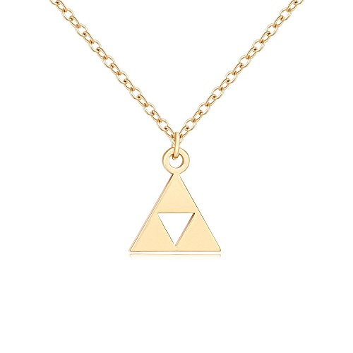 (SENFAI The Legend of Zelda Pendant Stainless Steel Necklaces (Gold) )