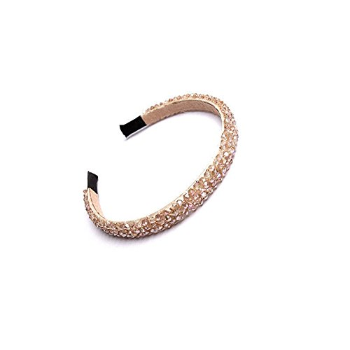 Champagne Gold Tile Flooring (MIJORA-Women Girls Bling Rhinestone Crystal Headband Hairband Hair Accessories Jewelry(champagne))