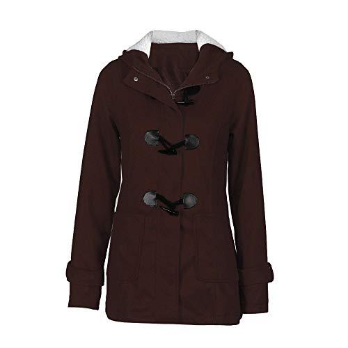 Taglie Donna Lana Elecenty Fashion Forti Nero Cappotto Vento Moda Giacca Inverno Slim Colletto Outwear Trench Lungo Calda wIS4I