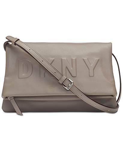 DKNY Women's Gray Tilly Logo Crossbody Clutch Bag
