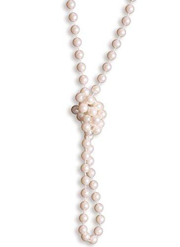 Wiipu Flapper Long Faux Pearl Glass Bead 58