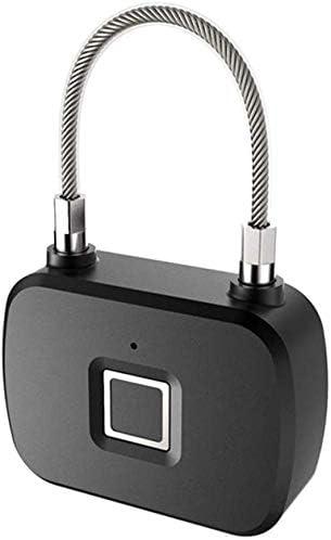 スマート指紋南京錠USB充電式南京錠ロッカー盗難防止キーレスロックロッカーハンドバッグハウスドアスーツケースバックパックジムバイクオフィス