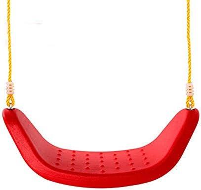 ブランコ 子供たちは男の子女の子のための適切なシート遊び場屋内スイングスイング ジャングルジム・ブランコ (色 : Red, Size : 53x20x19cm)