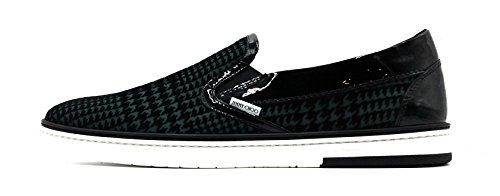 JIMMY CHOO London Flock Houndstooth Skate Sneaker / Loafer (Size 11.5 US / 44.5 - Jimmy London Shop Choo