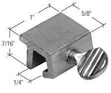 CRL Window Thumbscrew Lock, Aluminum - Bulk (100 Pack) by C.R. Laurence