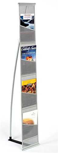 "- Magazine Stand, Rolls Up and Is Portable, (4) Pockets for 8-1/2"" x 11"" Literature – 54"" Tall"