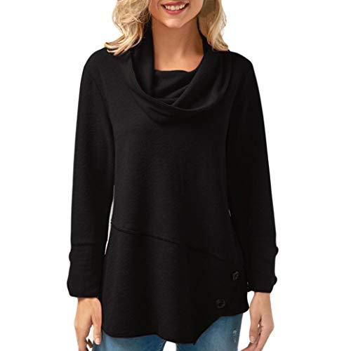 Sweater for Womens, FORUU Fashion Long Sleeve Asymmetric Hem Cowl Neck Blouses