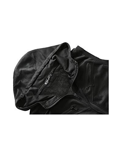 Bolsillo Chaleco Con 52 Negro Del 42 Cremallera Canguro Capucha L Hombres Allegra EU US K Cordón Para zIg55q