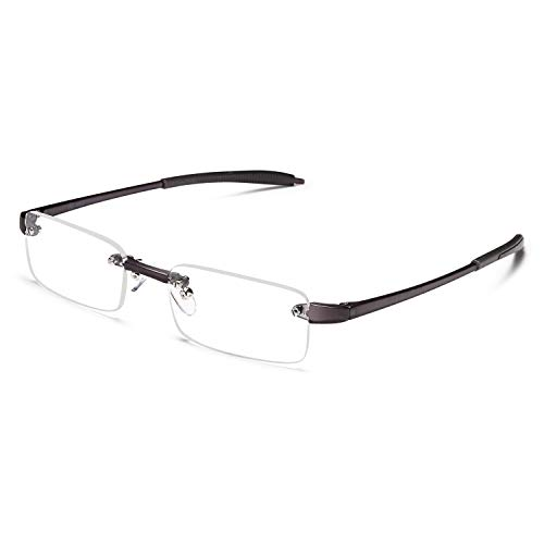 ALTEC VISION Reading Glasses for Men and Women Rimless Readers - 3.00 from ALTEC VISION