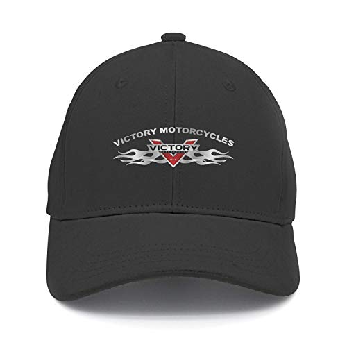 (Mens/Womens Victory-Motorcycle-Logo-Black Fashion Baseball hat Adjustable Snapback Cap)