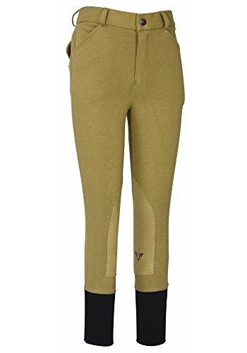 (TuffRider Boys Patrol Light Knee Patch Breeches | Color - Beige, Size -)
