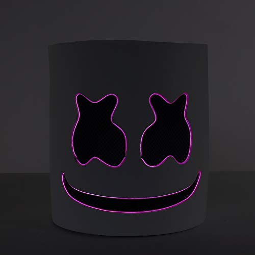 Smartcoco DIY DJ Mask Helmet Head LED Light up Mask for Halloween Mask Props Full Head EVA Mask for Music Festival Party Halloween Costumes (Purple) ()