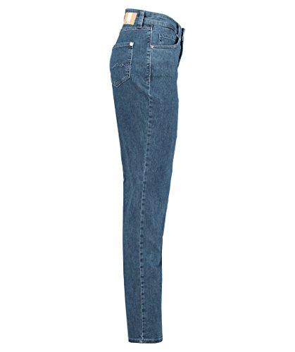 Blau Washed Basic MAC D690 Blue Mid Mujer Straigth Melanie para Pantalones zzwXqAf1
