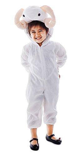 Spooktacular Toddlers' Onepiece Animal Halloween Costume Pajamas -Sheep,S -
