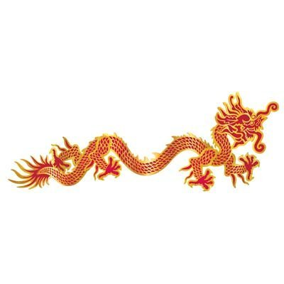 Chinese Paper Dragon Costume (Jointed Dragon Party Accessory (1 count) (1/Pkg))